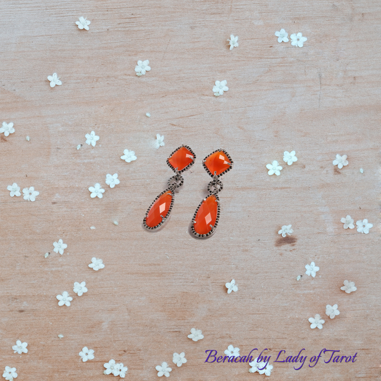 Aries Earrings by Beracah: Carnelian for Courage, Vitality, Success