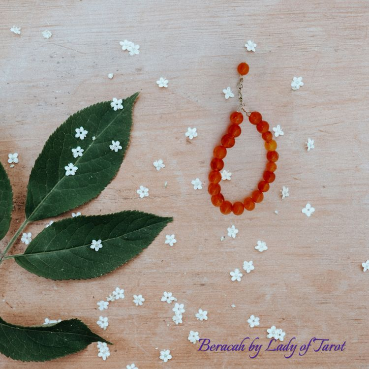 Carnelian Bracelet with Silver Clasp from Beracah by Lady of Tarot