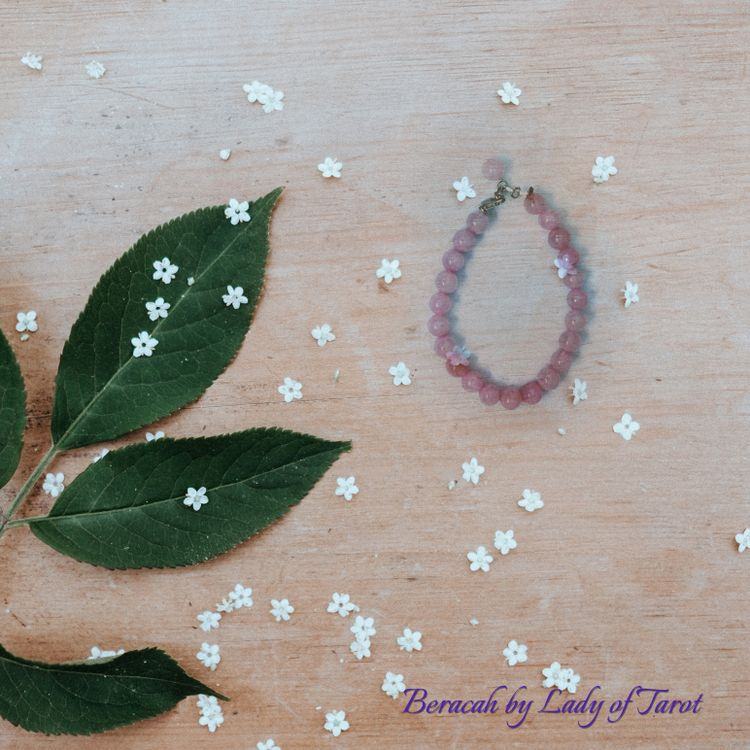Rose Quartz Bracelet with Silver Clasp from Beracah by Lady of Tarot
