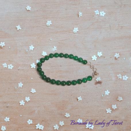 Green Jade Bracelet from Beracah: Love, Optimism, Prosperity