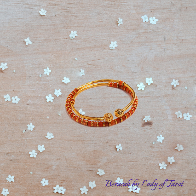 Carnelian Bangle by Beracah: Courage, Vitality, Success