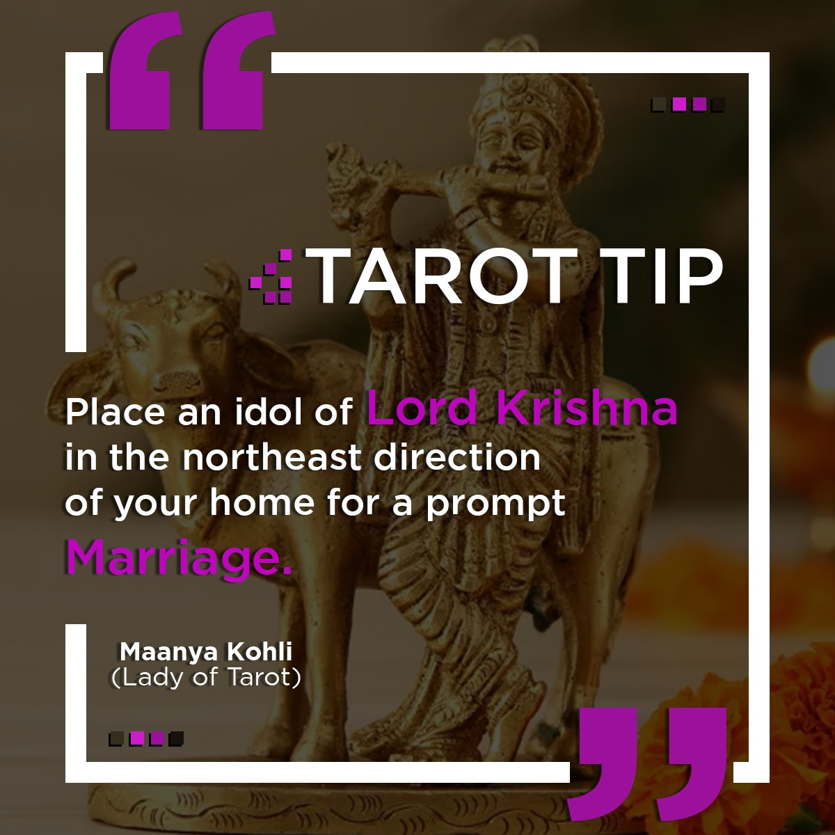 Tarot Tip for a Prompt Marriage.