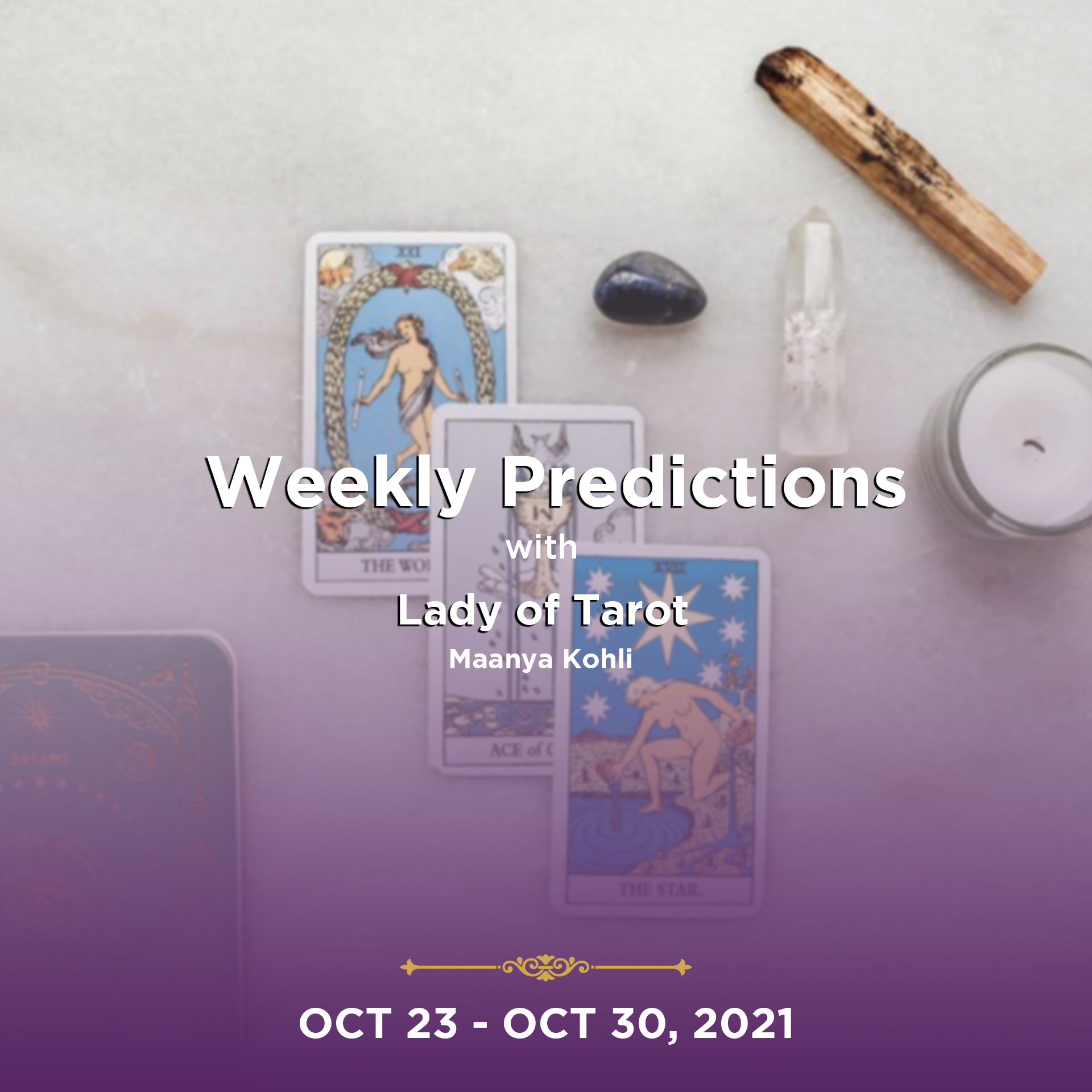 Weekly Predictions from 23rd October 2021 to 30th October 2021